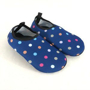 Toddler Girls Water Shoes Slip On Fabric 11.5-12